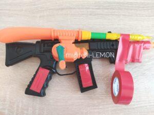 red-color-kids-toy-gun-hero-handmade