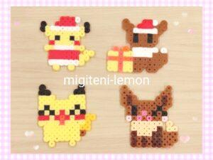 pikachu-eievui-eevee-ironbeads-daiso-100kin-handmade