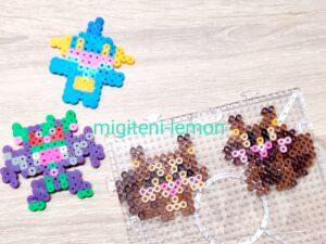 hoshigarisu-skwovet-yokubarisu-greedent-square-iron-beads-daiso-pokemon
