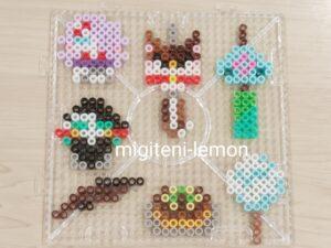 square-kimetsu-summer-matsuri-daiso-beads-handmade