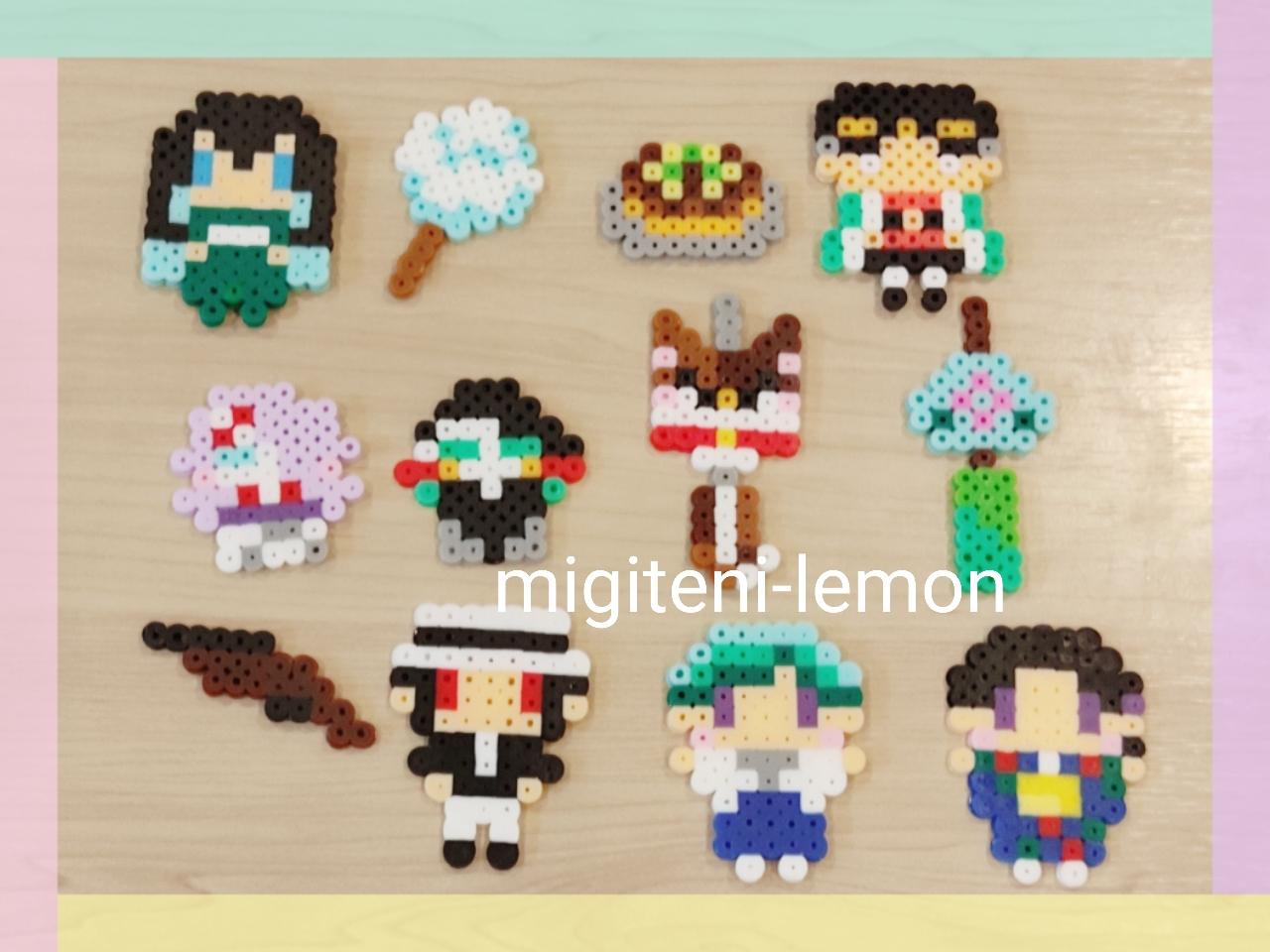 summer-matsuri-kimetsu-yatai-handmade-beads